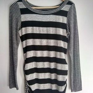 Nally & Millie Black & White Striped Tunic
